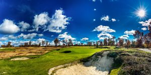 The Tom Doak-designed, reversible golf course The Loop at Forest Dunes, in Roscommon, Michigan.