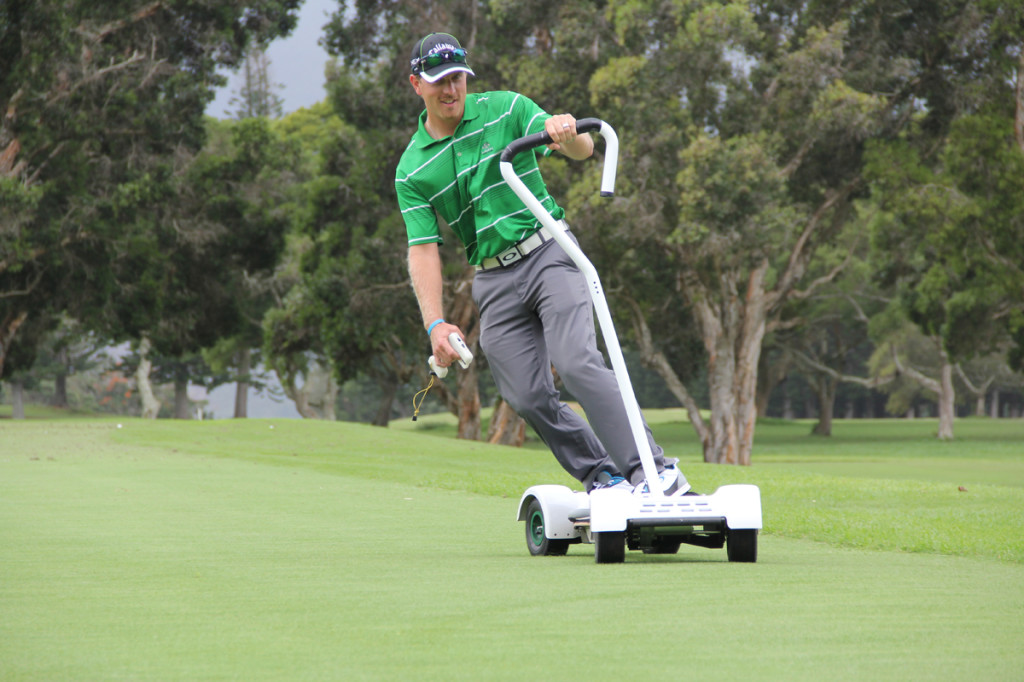 The GolfBoard lets you literally surf the turf in style, going six or 12 miles per hour, and using your body to turn.