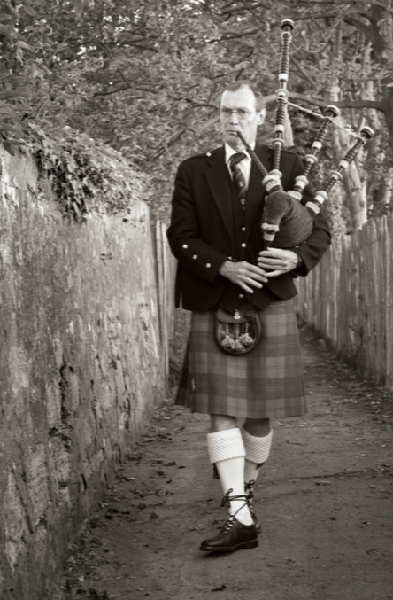 "A member of The City of St Andrews Pipe Band can often be found ""calling the boys home"" as they play the day's farewell from the stone streets of the city."